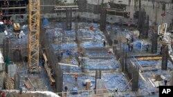 러시아 모스크바의 건설현장. (자료사진)