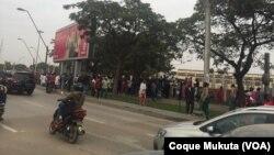 Praça 1o. de Maio, palco de manifestações em Luanda