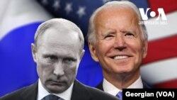 Lời qua tiếng lại giữa TT Nga Vladimir Putin và TT Mỹ Joe Biden. (Georgian/VOA)