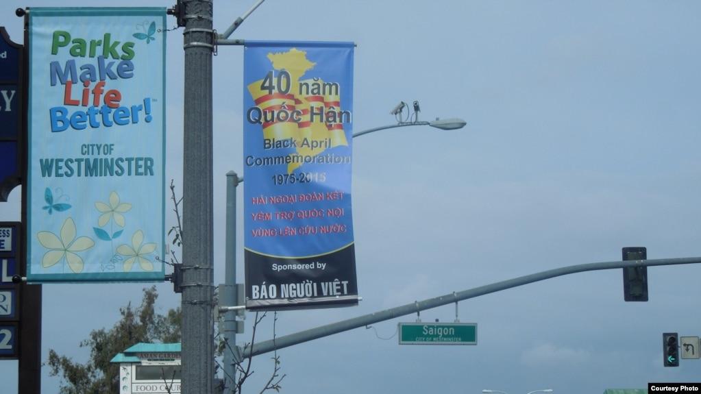 Phố Bolsa ở Little Saigon, California, tưởng niệm 30/4. Ảnh chụp ngày 30/4/2015.