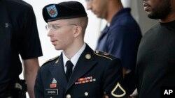 Bradley Manning diputuskan tidak bersalah atas tuduhan membantu musuh secara tidak langsung dalam sidang hari Selasa 30/7 (foto: dok).