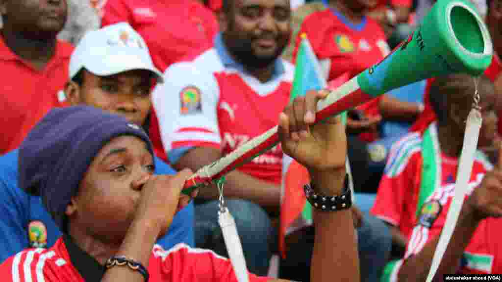 An equatorial Guinea fan with the VUvuzela Bata