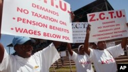 Zimbabwe Congress of Trade Unions, ZCTU.
