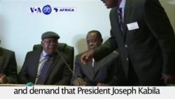 VOA60 Africa - DRC: Opposition parties demand that President Kabila quit in December