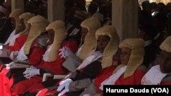Des magistrats à Borno, Nigeria, 1er mars 2017.