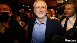 傑里米·科爾賓2015年9月12日當選英國工黨領袖。 (資料照)