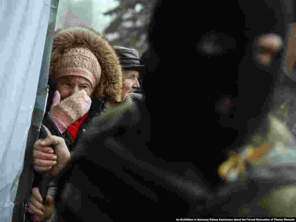 مشرقی یوکرین میں روسی زبان بولنے والوں کی ایک بڑی تعداد آباد ہے۔