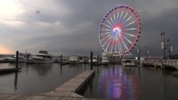 New Ferris Wheel Lights Up Washington DC Area