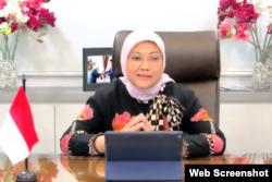 Menteri Tenaga Kerja Ida Fauziyah. (Foto: VOA/Nurhadi)