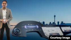 """As part of CES 2021, Mercedes-Benz showed off its artificial intelligence-powered """"Hyperscreen,"""" which stretches along the full width of the car and permits drivers and passengers to control the device through voice. (Mercedes_Benz)"""