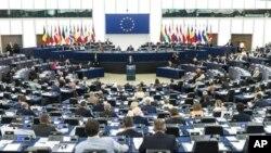 Một phiên họp của Nghị viện châu Âu ở trụ sở Strasbourg, Pháp