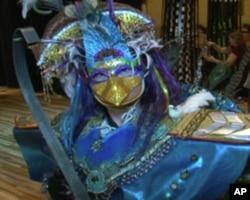"""外星人化装比赛儿童组创意奖冠军,""""托皮卡""""星球的外星人"""