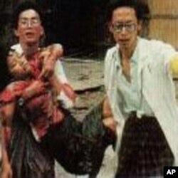 示威者遭缅甸军队血腥镇压