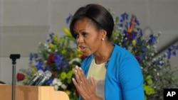 Mme Michelle Obama à l'Eglise Regina Mundi de Soweto