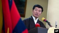 Thủ tướng của chính phủ lưu vong Tây Tạng Lobsang Sangay.