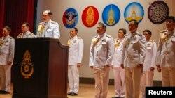 Tướng Prayuth Chan-ocha trong một buổi họp báo tại trụ sở quân đội ở Bangkok.