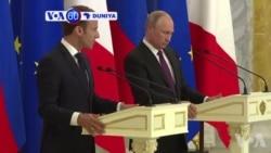 VOA60 Duniya: Shugaba Vladmir Putin Ya Karbi Bakuncin Takwaransa na Faransa Emmanuel Macron