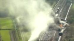 比利时运载化学品火车脱轨引发毒气外泄