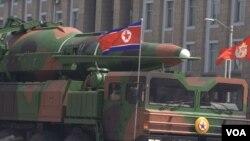 Военный парад в Пхеньяне, Северная Корея