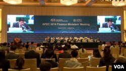 Pertemuan para menteri keuangan negara anggota APEC di Beijing, Rabu (22/10).