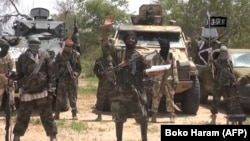 A screengrab of a video released by the Nigerian Islamist extremist group Boko Haram and obtained by AFP shows the leader of the Nigerian Islamist extremist group Boko Haram, Abubakar Shekau.