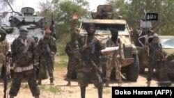 'Yan Boko Haram da shugabansu Shekau.