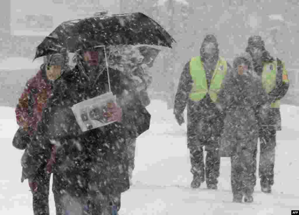 Снегопад в Белграде