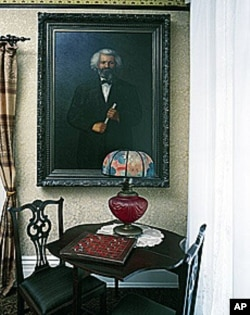 This is the parlor as Frederick Douglass kept it at Cedar Hill, restored by the National Park Service.