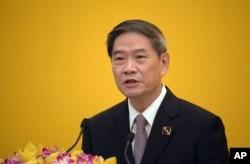 2015年11月7日中国国台办主任张志军在记者会上讲话
