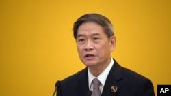 中国国台办主任张志军在记者会上讲话(2015年11月7日)
