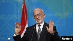 Menteri Luar Negeri Irak Ibrahim al-Jaafari dalam konferensi pers di Baghdad. (Foto: Dok)