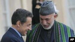 法國總統薩科齊星期五在巴黎會晤阿富汗總統卡爾扎伊