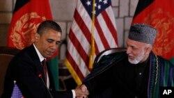 د کابل او واشینګټن ترمنځ ستراتیژیک تړون په کال ٢٠١٢ کې صدر براک اوباما او پخواني افغان صدر حامد کرزي لاس لیک کړی و