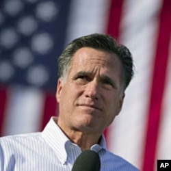 Republican presidential candidate, former Massachusetts Gov. Mitt Romney speaks during a campaign stop at William Jewell College, Liberty, Missouri, March 13, 2012