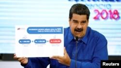 委內瑞拉總統馬杜羅4月底在一個新聞發布會上解釋新推出的最低工資