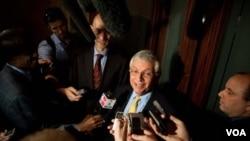 Komisaris NBA, David Stern, setelah bertemu Asosiasi Pemain NBA di New York September silam. (Foto:dok)