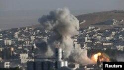 Cuộc không kích do Mỹ dẫn đầu nhắm mục tiêu vào Kobani.