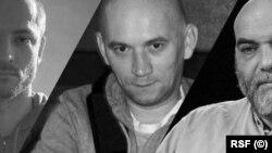 Les trois journalistes russes assassinés. (RSF)