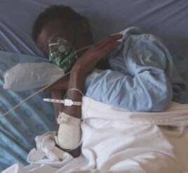 A critically ill patient with HIV and TB in a hospital in South Africa's Eastern Cape province