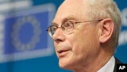 Presiden Dewan Uni Eropa Herman Van Rompuy.