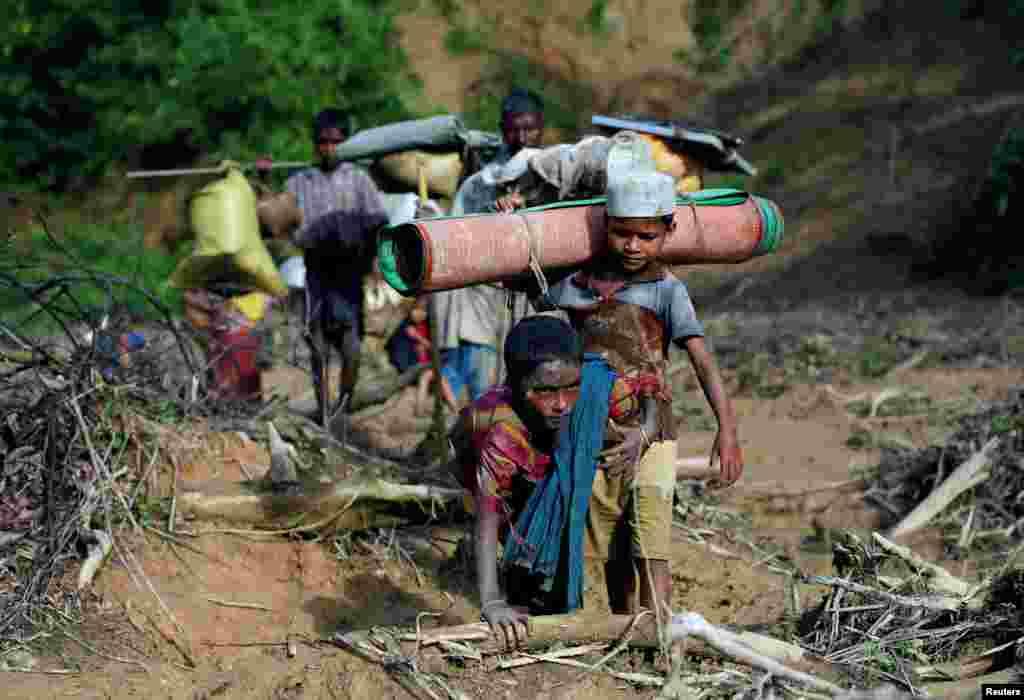 Rohnja musulmonlari Bangladeshdan boshpana izlamoqda