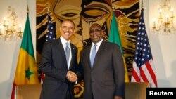 Perezida Barack Obama na Macky Sall wa Senegal i Dakar