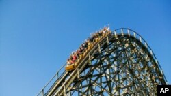 Members of the American Coaster Enthusiasts' club - who often ride the same roller coaster several times a day - get escorted to the head of the waiting line at every amusement park.