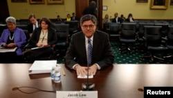 Menteri Keuangan AS Jack Lew saat bersaksi di DPR AS mengenai anggaran untuk kementeriannya. (Foto: Dok)
