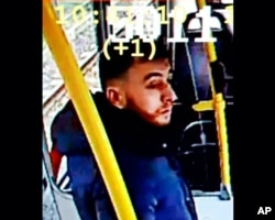 This image made available on March 18, 2019 from the Twitter page of Police Utrecht shows an image of 37-year-old Gokmen Tanis, who police are looking for in connection with a shooting incident on a tram.