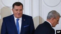 Milorad Dodik i Šefik Džaferović prilikom preuzimanja dužnosti