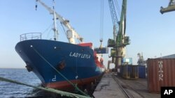 Kapal Turki, Lady Leyla, mengangkut bantuan kemanusiaan dalam jumlah yang besar untuk dikirimkan ke Gaza, Palestina, Jumat (1/7).