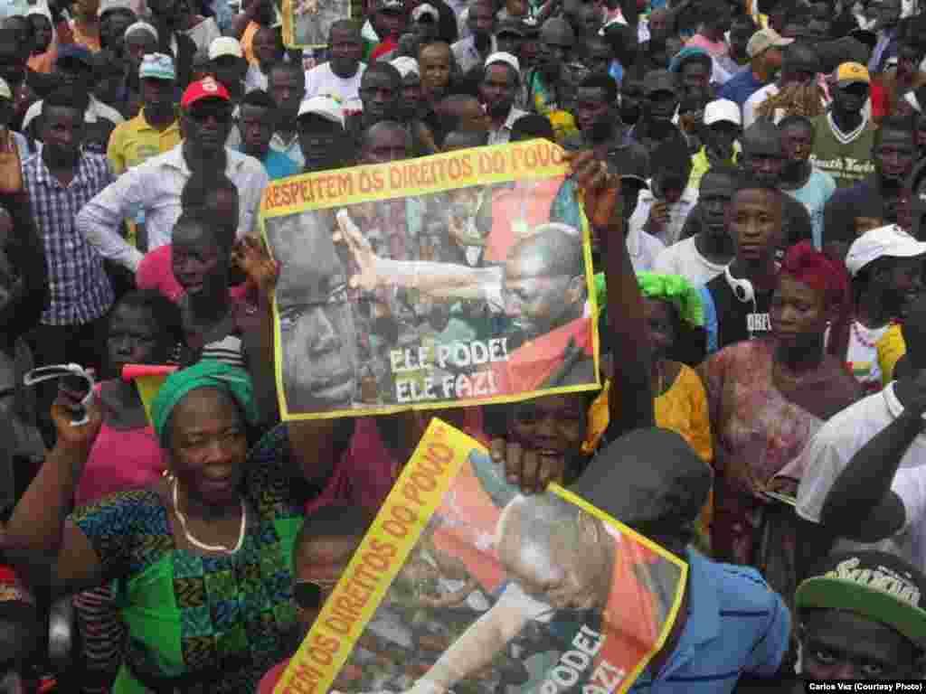 Manifestação a favor do PAIGC em Bissau. 17 de Agosto Guiné-Bissau 2015