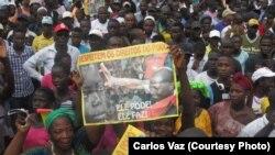 Manifestação a favor do PAIGC em Bissau.