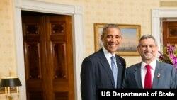 Presidente Barack Obama com Jorge Carlos de Almeida Fonseca, Presidente da República de Cabo Verde